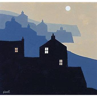 George Birrell print - Headlands and Moon