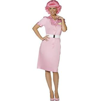 Smiffys Frenchy Costume Beauty School Drop Out Costume Pink (Kostüme)