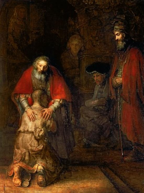 Return of the Prodigal Son c1668 Poster Print by Rembrandt van Rijn (42 x 56)