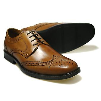 Nastro rosso RTX Maglin Tan Leather Brogue scarpe