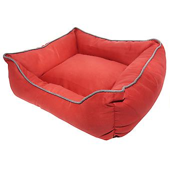 Dog Gone Smart Suede Lounger Bed Red 66x61cm