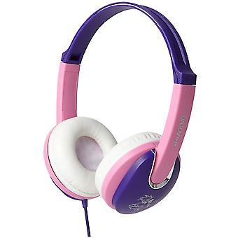 Groov-e Kiddies hovedtelefon med lydstyrke Limiter - Pink/lilla (GV591VP)