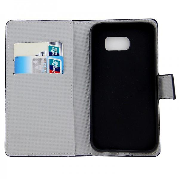 Cover wallet pattern 5 for Samsung Galaxy S6 G920 G920F
