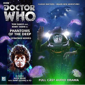 Phantoms of the Deep (Doctor Who: The Fourth Doctor Adventures) (Audio CD) by Morris Jonathan Baker Tom Tamm Mary Leeson John