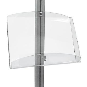 Double A4 Acrylic Brochure Holder for Display Stand - MFS Range