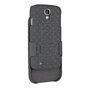 Unlimited Cellular Rubberized Shell Holster Combo with Kickstand for Samsung Gal