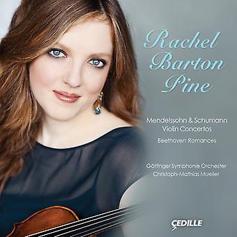 Mendelssohn/Schumann/Beethoven - Mendelssohn & Schumann: Violinkoncerter; Beethoven: Romancer [CD] USA importerer