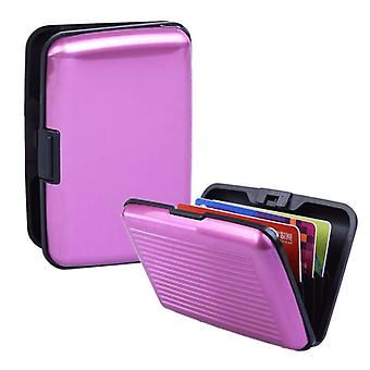 Babz Aluminium Credit Card Business Card Holder To Keep Cards Safe In Pink