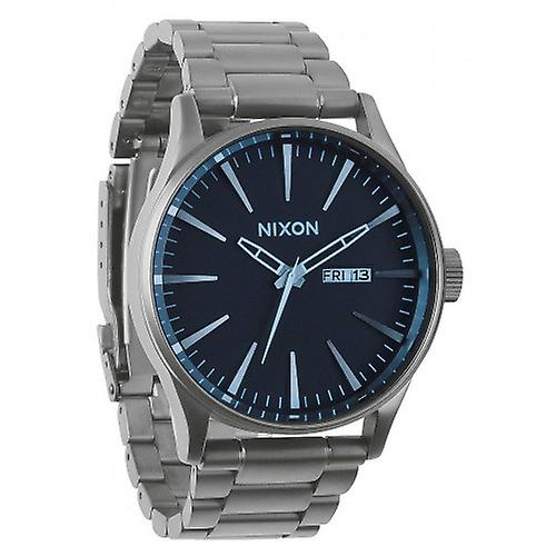 Nixon The Sentry SS Watch - Gunmetal/Blue Crystal