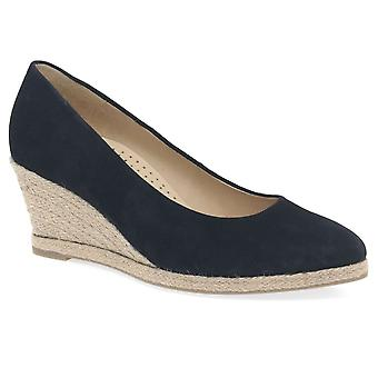 Gabor Paisley Womens Wedge Heel Court Shoes