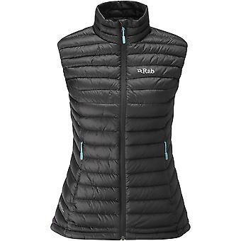 Rab Womens Microlight Vest Black/Seaglass (UK Size 14)