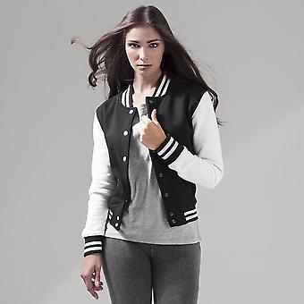 Build Your Brand Womens/Ladies Sweat College Jacket