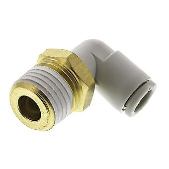 SMC Pneumatik Ellenbogen Gewinde-To-Tube Adapter, R 1/4 männlich, Push In 6 Mm