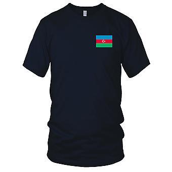 Aserbajdsjans nasjonale flagg - brodert Logo - 100% bomull t-skjorte Kids T skjorte