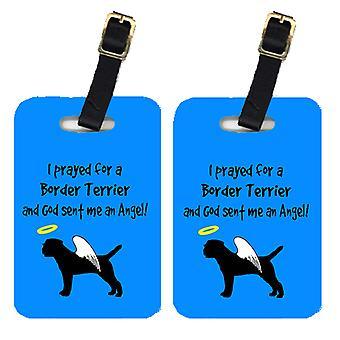 Carolines Treasures  AN1015BT Pair of 2 Border Terrier Luggage Tags