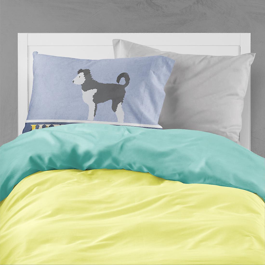 Carolines Treasures  BB8297PILLOWCASE Pumi Welcome Fabric Standard Pillowcase