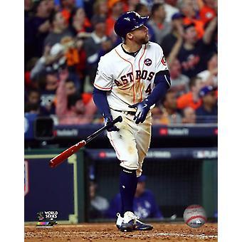 George Springer Home Run gra 5 2017 World Series Photo Print