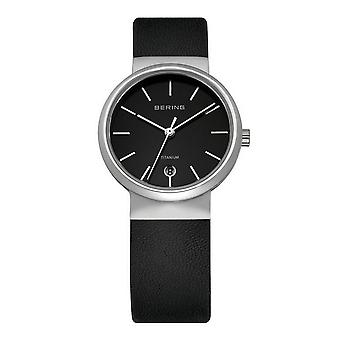 Bering ladies slim watch clock classic - 11029-402 leather