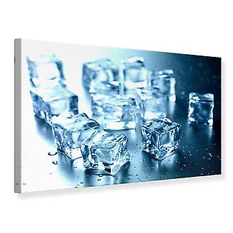 Canvas Print Many Ice Cubes
