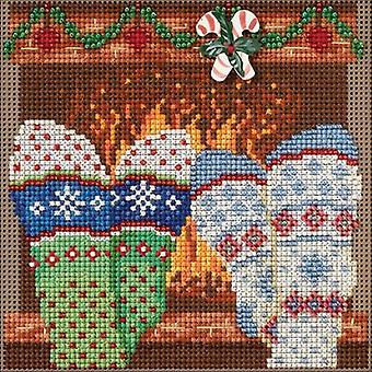 Cozy Feet Buttons & Beads Counted Cross Stitch Kit-5