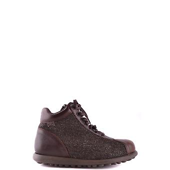 Camper men's Mcbi059 Brown fabric ankle boots