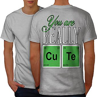 Cute Chemistry Geek Men GreyT-shirt Back | Wellcoda