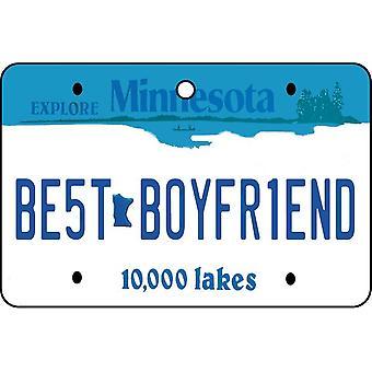 Minnesota - Best Boyfriend License Plate Car Air Freshener