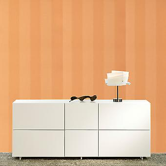 Harlekin Orange tapet Roll - stribet Vinyl funktion Design - farve: 15913