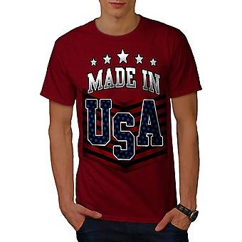 Made in USA RedT-camicia uomo | Wellcoda