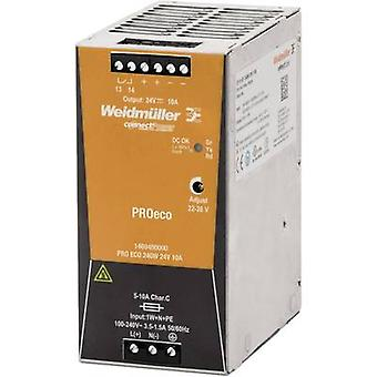 Rail mounted PSU (DIN) Weidmüller PRO ECO 240W 24V 10A 24 Vdc 10 A 240 W 1 x