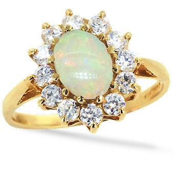 Shipton and Co Ladies Shipton And Co Exclusive 9ct Yellow Gold And Opal Ring RY1099OPZ
