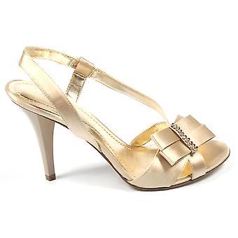 Nine West Womens Slingback Sandal Nwelsia Light Gold