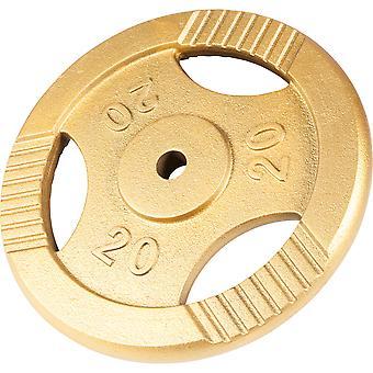 Hantelscheibe Guss Gripper Gold 20 kg