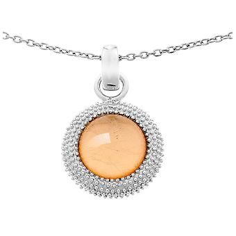 Orphelia Silver 925 Chain With Pendant Rose Sheet   ZH-6041/1