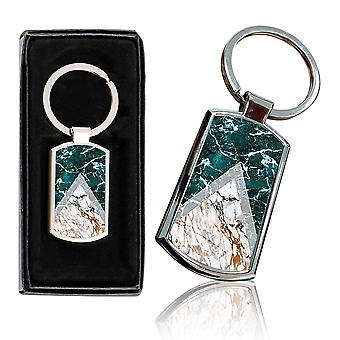 i-Tronixs - Premium Marble Design Chrome Metal Keyring with Free Gift Box (3-Pack) - 0004