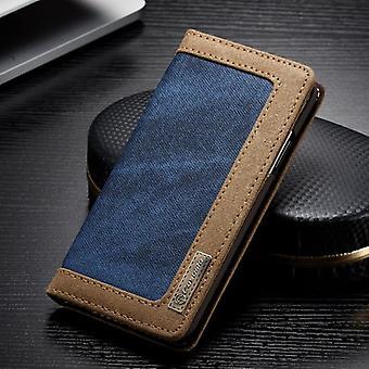 CaseMe Booktasche Flip case Apple iPhone X / 10 cover case protective case Blue