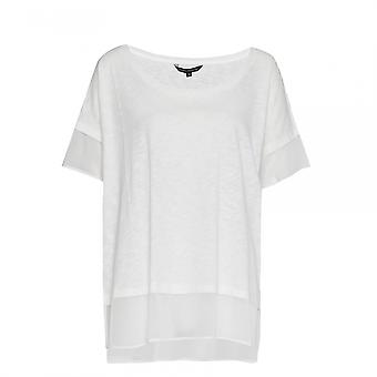 French Connection Fresh Slub Jersey SS Round-Neck Womens Top
