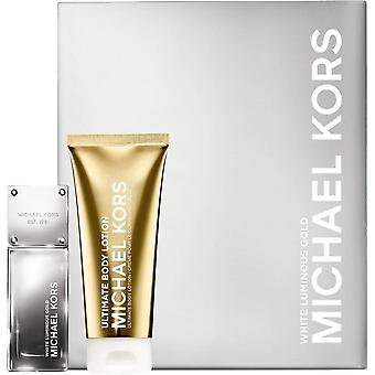 Michael Kors White Luminous Gold Gift Set EDP 1.7 Oz & Body Lotion 3.4 Oz