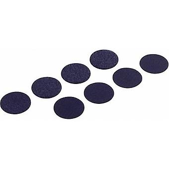 Hook-and-loop stick-on dots stick-on Hook and loop pad (Ø) 19 mm