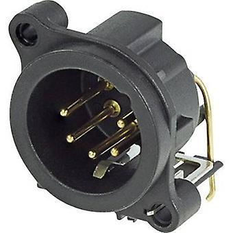 Neutrik NC5MAH XLR connector Sleeve plug, right angle pins Number of pins: 5 Black 1 pc(s)