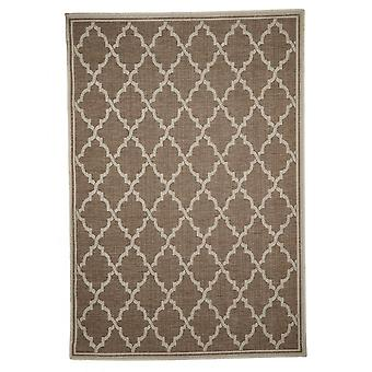 Outdoor carpet for Terrace / balcony carpet indoor / outdoor - for indoor and outdoor living room brown beige 160 x 230 cm