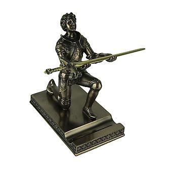 Giovanna d'arco Inginocchiare Lettera Opener / penna titolare finitura bronzo statua