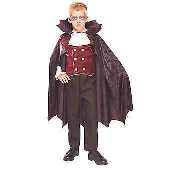Vampire Dracula Count Transylvanian Halloween Fancy Dress Up Boys Costume