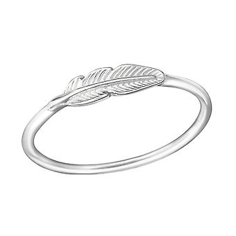 Feather - 925 Sterling Silver Plain Rings - W38130x