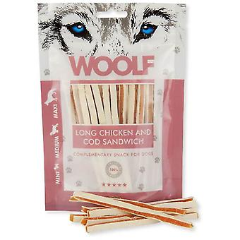 Woolf Long Chicken and Cod Sandwich (Dogs , Treats , Natural Treats)