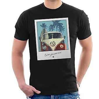 Official Volkswagen Polaroid Camper Men's T-Shirt