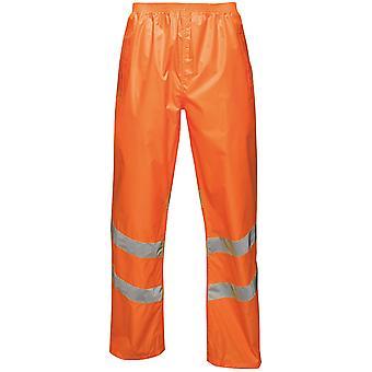 Regatta Mens Hi Vis Pro Packaway Waterproof Work Trousers