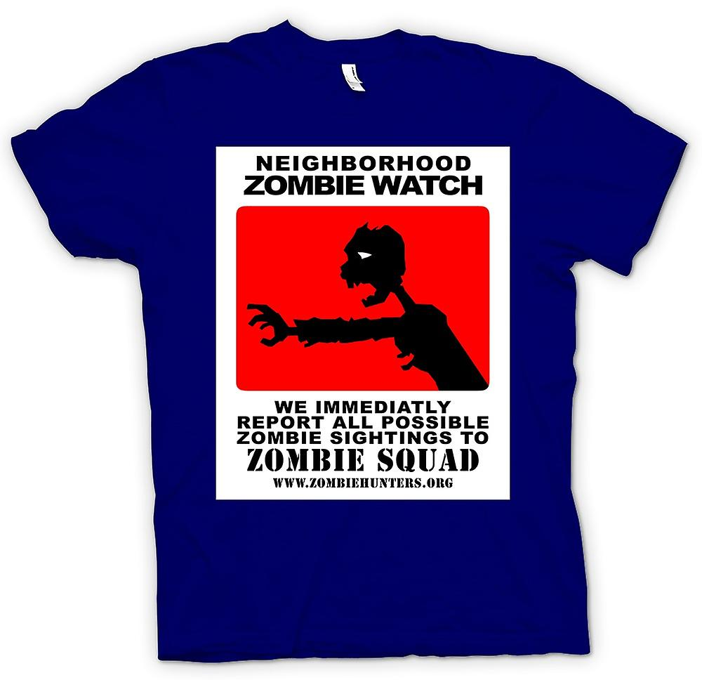 Mens t-shirt - Zombie Neighborhood Watch - divertente