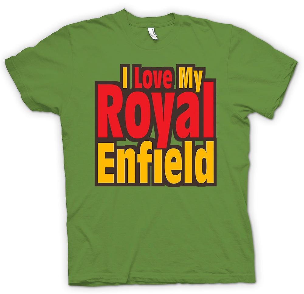 Mens T-shirt - I Love My Royal Enfield - Motorcycle - Biker