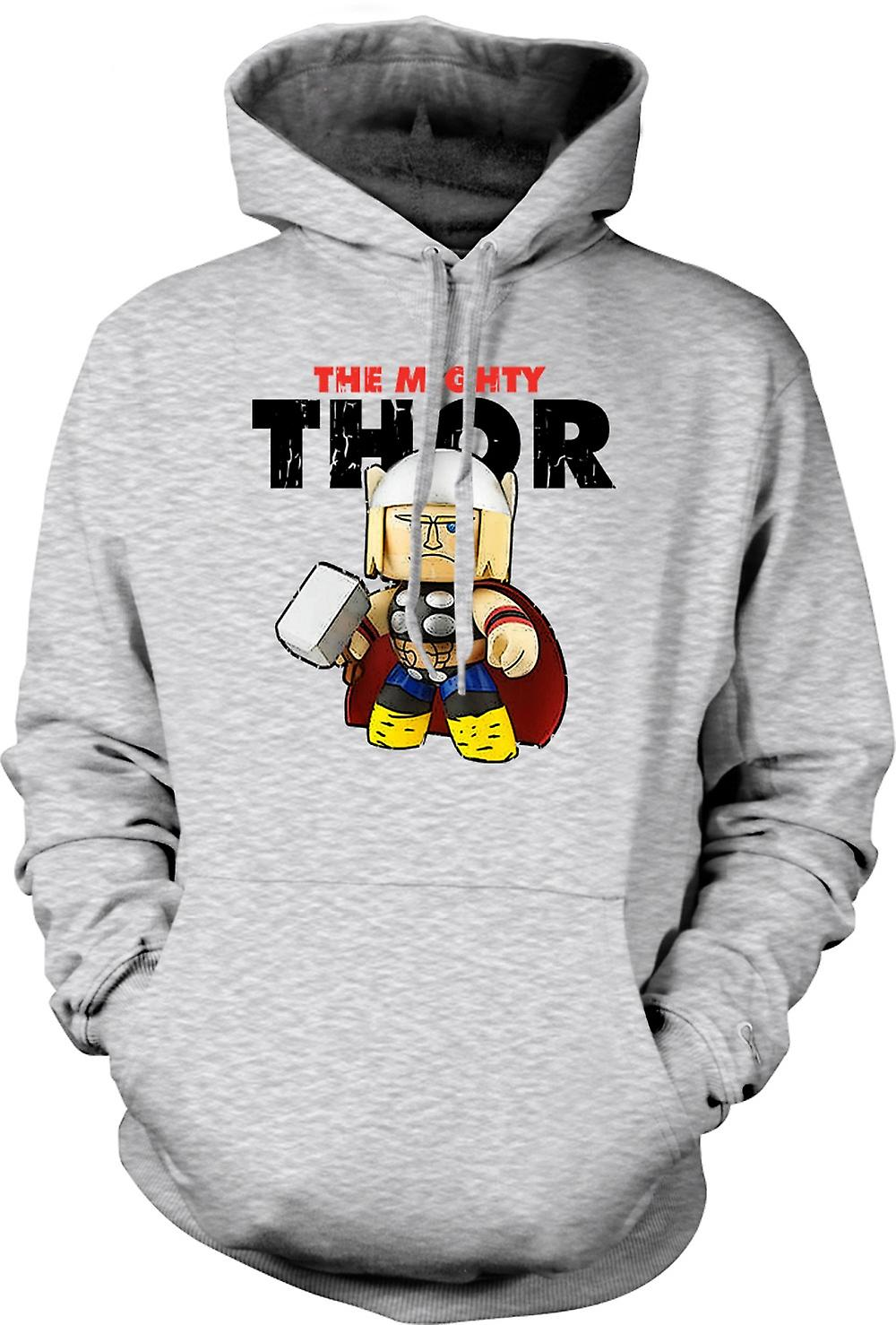 Mens Hoodie - The Mighty Thor Cute